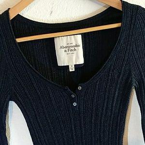 Navy Blue Long Sleeve Blouse